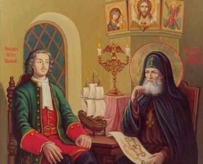 Святитель Митрофан Воронежский и Петр I