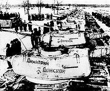 Во время войны православные люди не только воевали и ухаживали за ранеными в госпиталях, но и собирали деньги для фронта. Собранных средств хватило на комплектацию танковой колонны имени Димитрия Донского